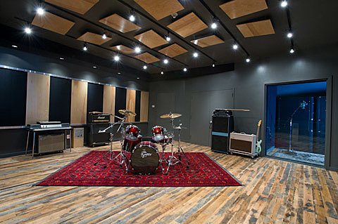 Live Room at Rubber Tracks