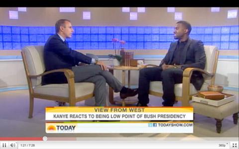 Kanye West & Matt Lauer