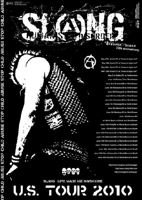 Slang Tour Flyer