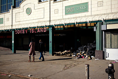 Hurricane Sandy Aftermath - Coney Island