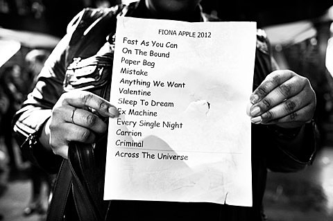 Schön Fiona Apple Bowery Ballroom Set List. Fast As You Can On The Bound Paper  Bag A Mistake Anything We Want Valentine Sleep To Dream Extraordinary  Machine