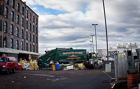 Hurricane Sandy's aftermath in Red Hook on 11/3/12