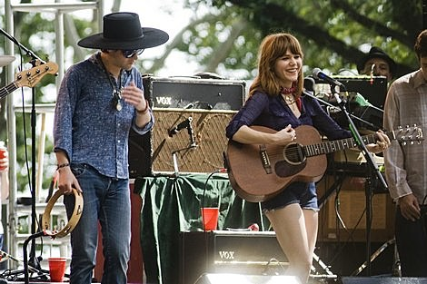 Conor Oberst and Jenny Lewis