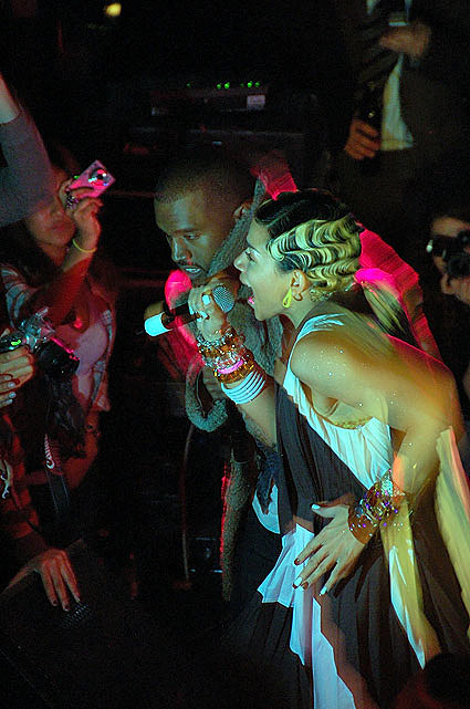 Kanye West, Kid Sister and A-Trak at the museum