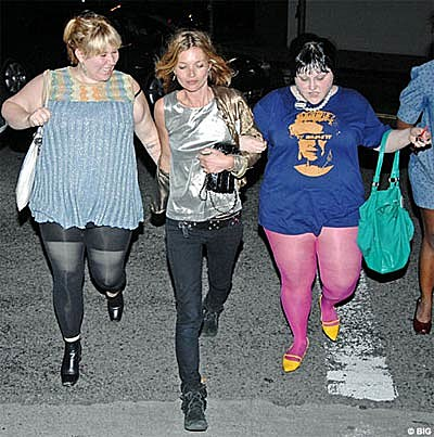 Beth Ditto & Kate Moss