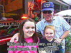 picture of Loudon and daughter Lucy and sister Hannah from the One Man Guy documentary