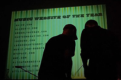 Music Website of the year @ Webster Hall