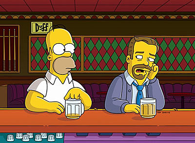 Ricky Gervais and Homer