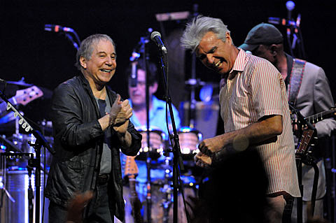 Paul Simon and David Byrne
