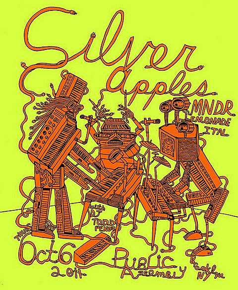 Silver Apples flyer