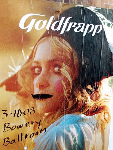 Goldfrapp defaced