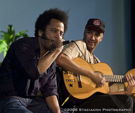 Boots Riley and Tom Morello
