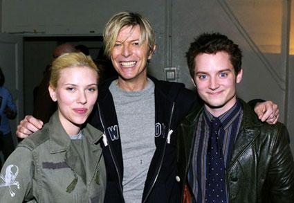 Scarlett Johansson and David Bowie