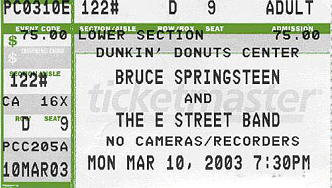Bruce Springsteen ticket