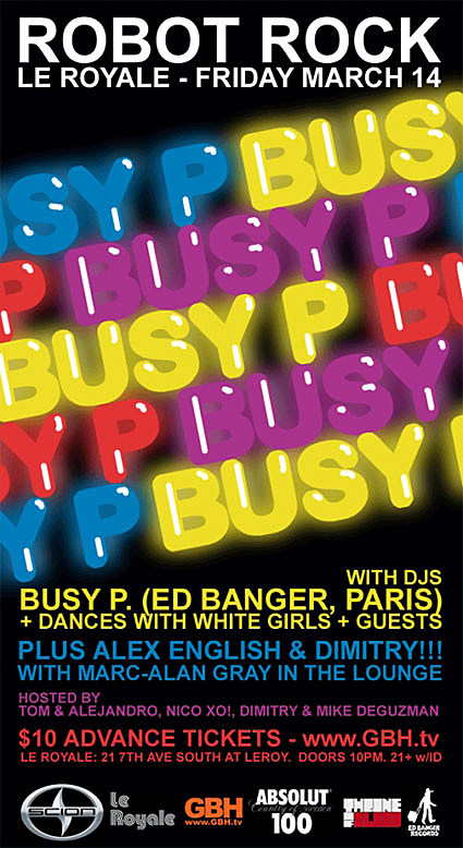 Busy P flyer