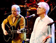 David Byrne and Paul Simon