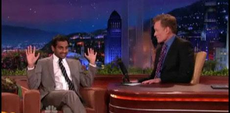Aziz Ansari and Conan O'Brien
