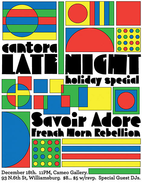 Savoir Adore flyer