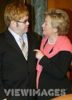 Elton John and Hillary Clinton