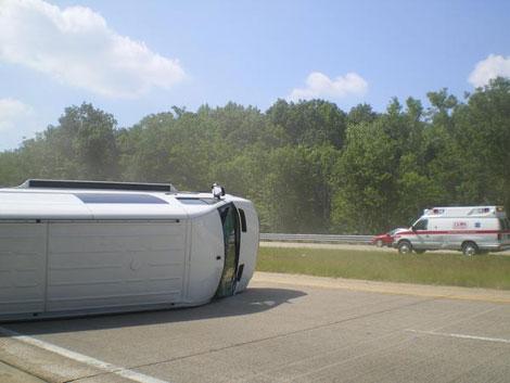 flipped van