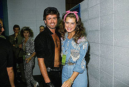 George Michael and Brooke Shields