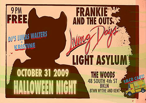 Frankie and the Outs flyer