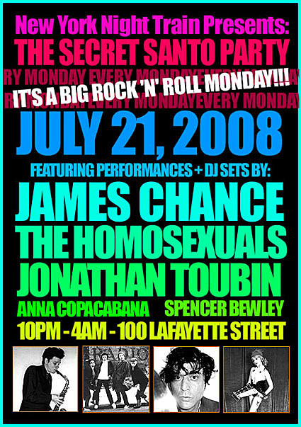 James Chance Flyer