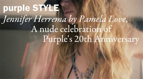 Jennifer Herrema poses topless for Pamela Love