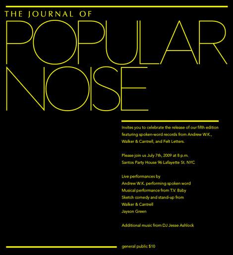 Journal of Popular Noise