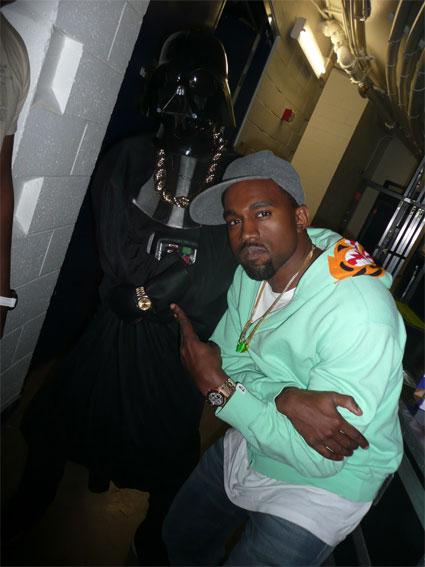 Kanye West and Darth Vader