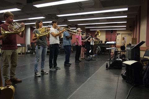 David Byrne rehearsal