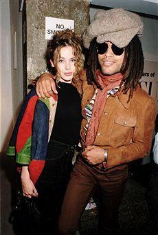 Kylie Minogue and Lenny Kravitz