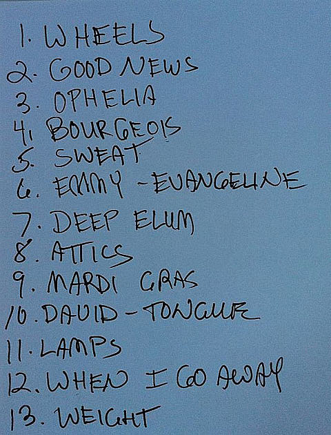 Levon setlist