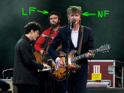 Liam Finn and Neil Finn