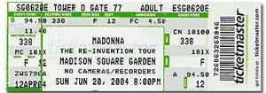Madonna Ticket