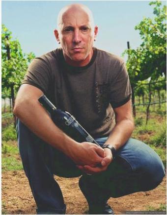 Maynard with wine