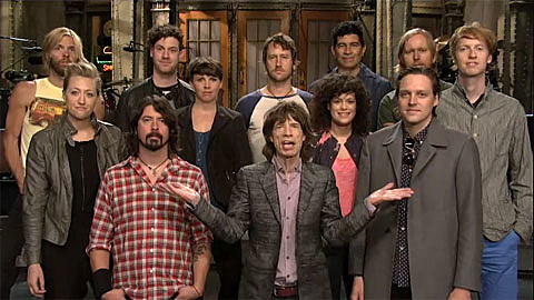 Mick Jagger and Arcade Fire