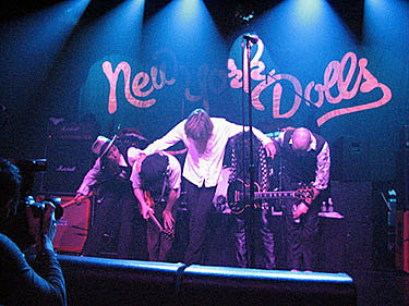 NY Dolls bow @ Irving