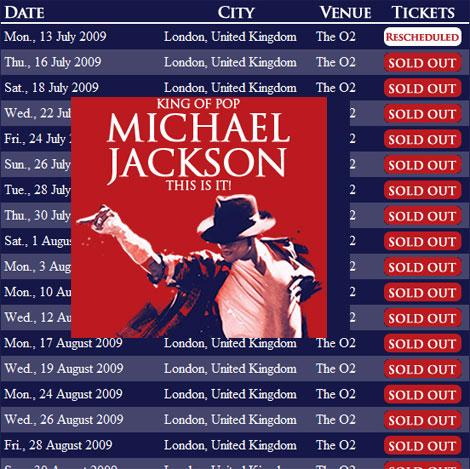 Michael Jackson O2 concerts