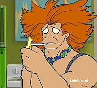 He is a caveman from ages past. Frylock's first OoGhiJ MIQtxxXA supercomputer goes back to Oogs time and makes him intelligent... even though he still has some of his caveman traits. Just make sure he's not BORED!, Voiced by: John Glaser, Appeared in: Super Computer and The Last One