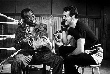 Paul Newman and Louis Armstrong