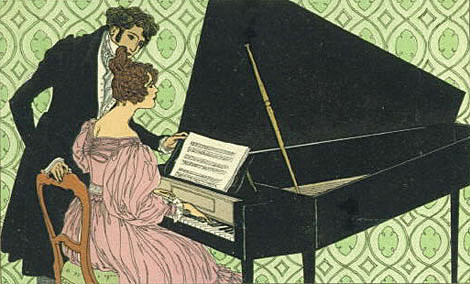 people playing a piano