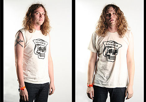 Jay Reatard in a LOVVERS shirt