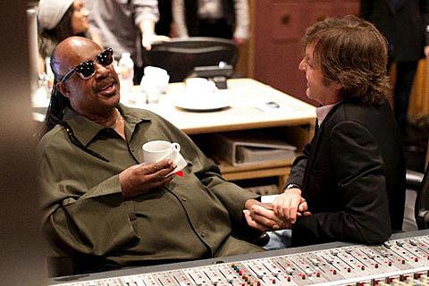 Stevie Wonder and Paul MCCartney