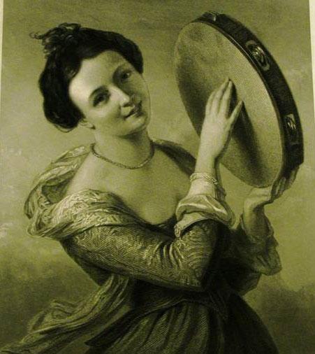 tambourine lady