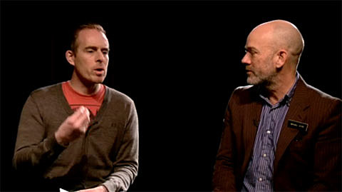 Ted Leo and Michael STipe
