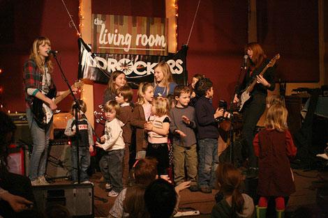 Vivian Girls and kids