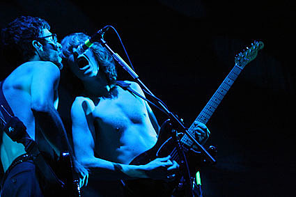We Are SCientists without shirts in London
