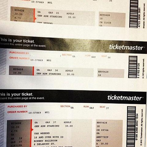 Weeknd tickets