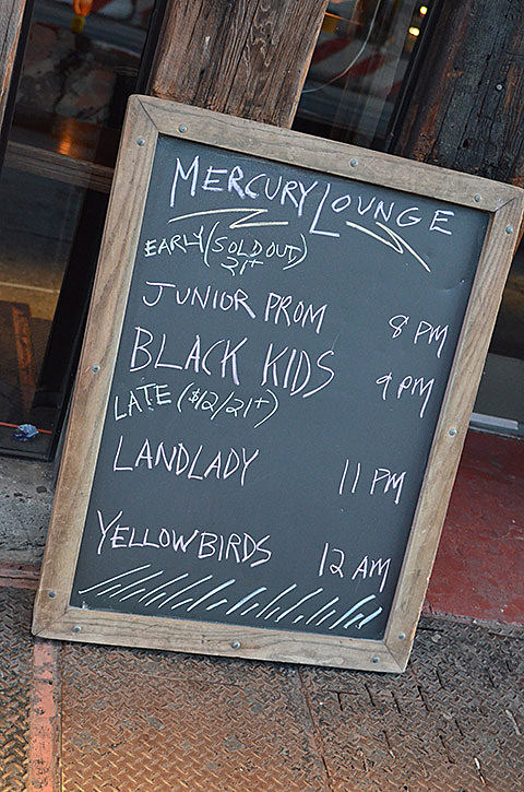 The Black Kids & Junior Prom @ Mercury Lounge - 8/25/2013